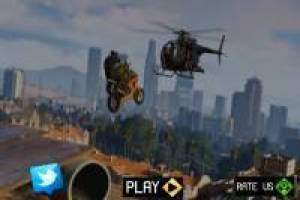 Parkour de Moto by the Sky dans le style GTA V